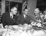 Governor M. E. Thompson celebrates his election win with a victory dinner, 1947