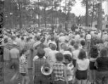 M. E. Thompson supporters gathered for a campaign event, 1954