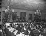 Supporters celebrate with a victory dinner for M. E. Thompson, 1947