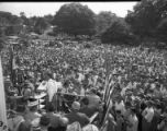 Supporters crowd in to hear Gov. Eugene Talmadge speak at an event, 1946