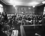 Crowds pack the Sibley Commission hearing on school segregation, 1960