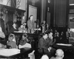 "Herman Talmadge addressing the Georgia General Assembly during the ""Three Governors..."