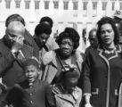 Coretta Scott King with her family and children mourning during the funeral of Martin Luther King...