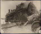 One of the locomotives from the wreck of Southern Railway's Royal Palm with the Ponce de Leon, at...