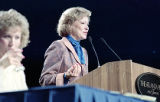 Former First Lady Rosalynn Carter speaking at the Conference on Women and the Consitution, 1988