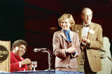 Civil rights leader Barbara Jordan with former First Lady Rosalynn Carter at the Conference on...