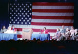 Barbara Jordan on stage with Rosalynn Carter and others at the Women and the Constitution...