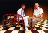Alliance Theatre Creative Director Robert Farley with playwright Frank Manley, 1990