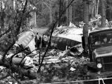 Remains of Southern Airways flight 242 from forced landing on highway in New Hope, Georgia, April...