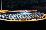 Atlanta Symphony Orchestra performing during the opening ceremonies of the Atlanta Olympic Games,...