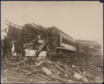 Debris from the wreck of Southern Railway's Royal Palm with the Ponce de Leon, at Rockmart,...