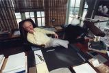 Charles Terry Cline, Jr., novelist, at home in Fairhope, Alabama, January 24, 1990.