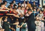 President George Bush meeting with children after speaking at the Mt. Paran Christian School, 1992