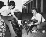 Governor George Busbee's son Jeff with their family dog Sam, 1975