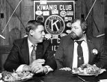 Republican Minority Leader of Georgia Johnny Isakson speaking with the Kiwanis Club of East Cobb,...