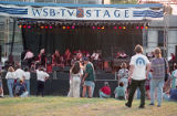 Music Midtown festival attendees at the WSB-TV stage, 1994