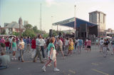 Concert attendees at the first annual Music Midtown festival, 1994