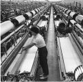 Interior of the West-Point Pepperell cloth plant, 1974