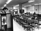 Pressroom for coverage of the Atlanta Child Murders suspect Wayne Williams murder trial, 1981