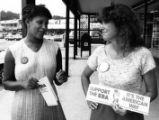 DeKalb ERA supporters Suzette Gooch and Gerri Hall, DeKalb County, Georgia, July 1, 1981.