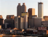 "Skyline of downtown Atlanta, Georgia, showing the ""double towers"" of 191 Peachtree Tower."