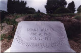 Tombstone of Duane Allman, primary co-founder of the  Allman Brothers Band, Rose Hill Cemetery,...