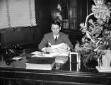 "Herman Talmadge in governor's office, during the ""Three Governors Controversy,"" Atlanta,..."