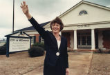 Republican candidate for lieutenant governor of Georgia, Janice Horton, at McDonough City Hall,...