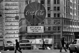Coca-Cola billboard at Margaret Mitchell Square, Atlanta, Georgia, January 7, 1981.