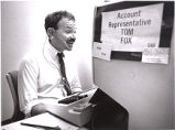 Tom Fox, at his desk at the Atlanta Journal-Constitution, where he worked as an advertising...