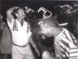 Tom Fox and his friend, Johnnie, dancing at the Pier House celebrating Tom's 32nd birthday, Key...