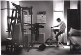 Tom Fox during physical therapy at Atlanta Hospital, Atlanta, Georgia, April 25, 1989.