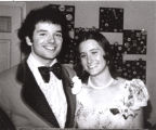 Tom Fox and his date, Bonny Barr, at their high school senior prom, Bloomington, Indiana, 1974.