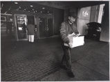 Tom Fox, after clearing out his desk at The Atlanta Journal-Constitution, Atlanta, Georgia,...