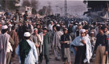 Crowded street in South Asia or Middle East, photograph by Jean Shifrin, 1992.