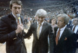 Coach Bobby Cremins following Georgia Tech's victory at the 1985 ACC champsionship against the...