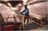 Worker at an Engelhard kaolin plant, Saundersville, Georgia, October 28, 1993.