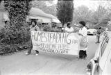 Members of Georgia Action / ACORN during a protest of absentee landlords and poorly maintained...
