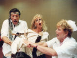 "Scene from dress rehearsal of the play ""Class Reunion,"" performed at the Holiday Inn..."