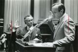 Horace T. Ward (left) being sworn in as Fulton County Superior Court Judge. Georgia Governor...