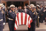 Funeral of murdered Atlanta police Officer Layne B. Cook, New Hope Baptist Church, Fayetteville,...