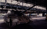 Soviet-built T-55 tank stored in a warehouse at Fort Gillem, Forest Park, Georgia, November 1,...