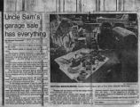 """Uncle Sam's Garage Sale Has Everything,"" newspaper clipping. Surplus auction at Fort..."