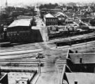 View from the Capitol of Forsyth Street, looking south across the railroad tracks, Atlanta,...