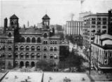 View of Forsyth and Marietta streets and the old post office which became the Atlanta City Hall,...