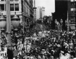 Great Depression-era demonstration in support of the National Industrial Recovery Act, Peachtree...