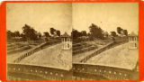 Stereoscopic view of the racetrack at Oglethorpe Park, Marietta Street, Atlanta, Georgia, 1880s?