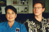 Shelly Robbins (left) and Lynn Cothren headed the group organizing 1992 Gay Pride parade and...