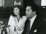 Atlanta Dogwood Festival queen, Debby Warner, with Atlanta mayor Maynard Jackson, March 1980.