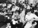 Training wartime dentists at the Atlanta-Southern Dental College, Atlanta, Georgia, August 1943.